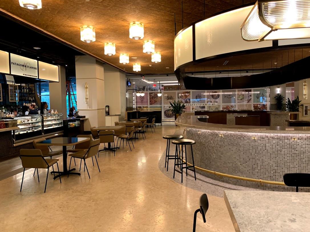 New Central Fare food hall at Miami Central Brightline Station