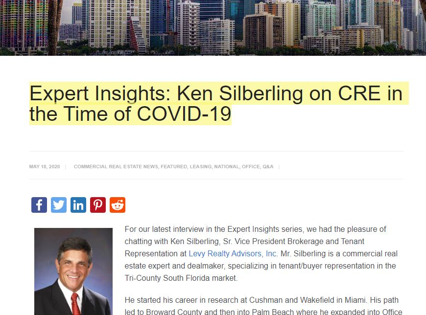 Ken Silberling - Commercial Real Estate COVID-19